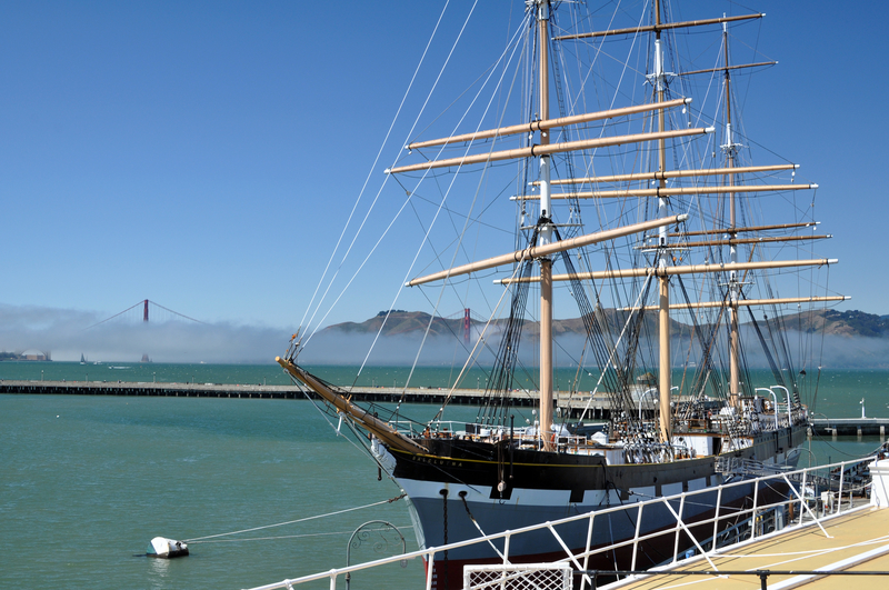 The historic rigger Balclutha in San Francisco