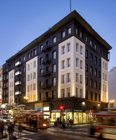 Exterior shot of Hotel Union Square - a San Francisco Hotel