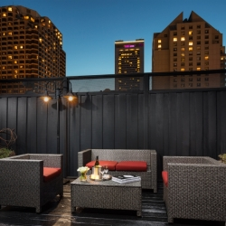 The terrace of the Cable Car Suite at Hotel Union Square - a San Francisco Hotel