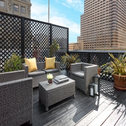 Presidential Suite terrace at Hotel Union Square - a Hotel in San Francisco