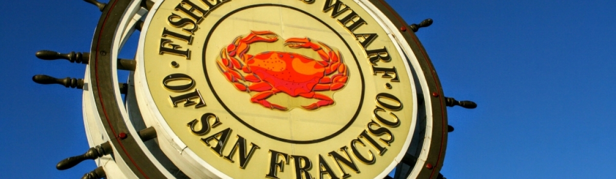 Sign for Fisherman's Wharf