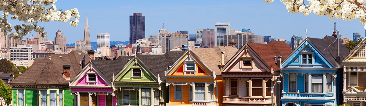 Row of Colorful Houses in San Francisco