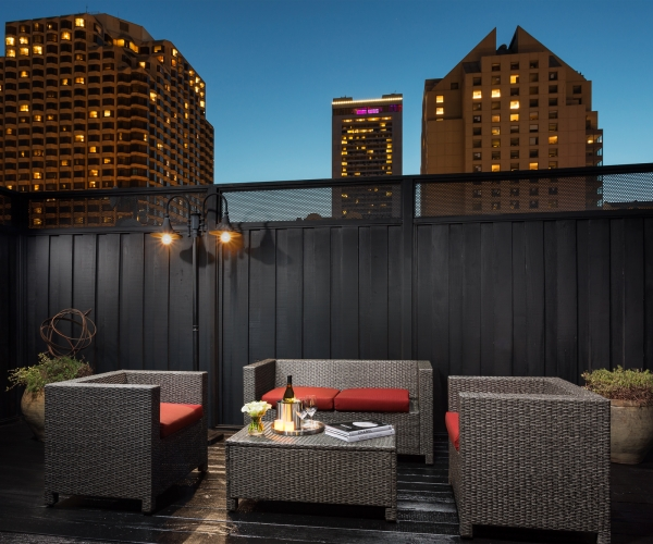 Hotel Union Square, a San Francisco Hotel's, Cable Car Suite Terrace at Night